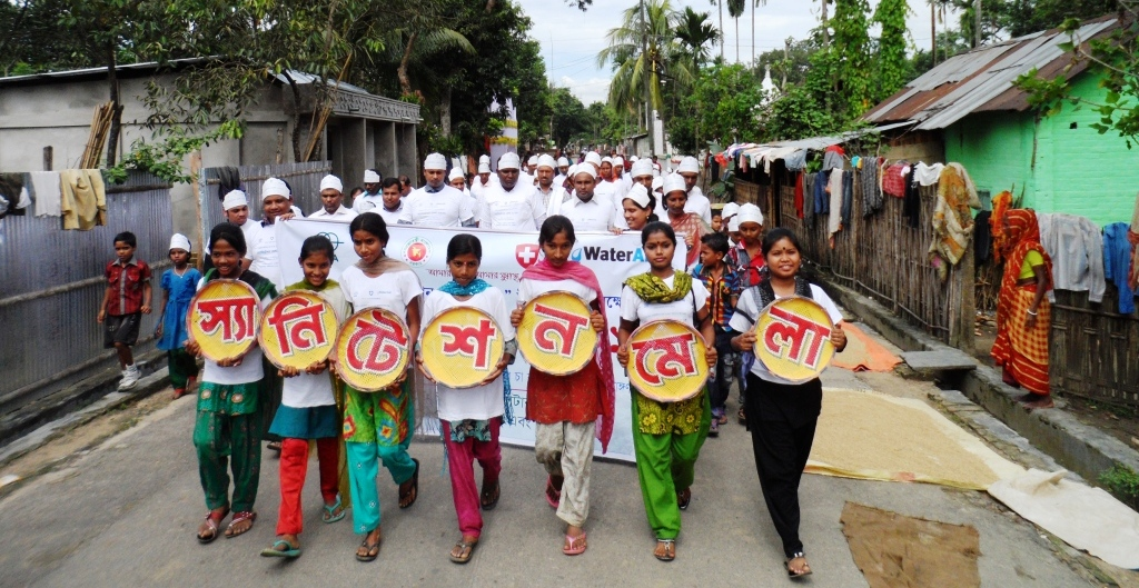 Conducting rally & awareness activity on sanitation under WATER Project
